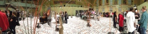 A panoramic view of the exhibit floor