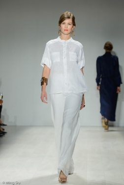 Whitney Linen Spring 2014 collection shown during World MasterCard Fashion Week Toronto