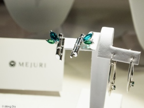 Emerald Leaves Earrings by Elena Lorenzi