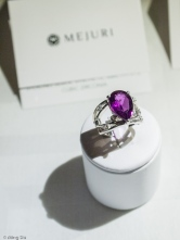 Purple Heart Ring by Adelina Georgescu from Mejuri Jewellery Launch Event